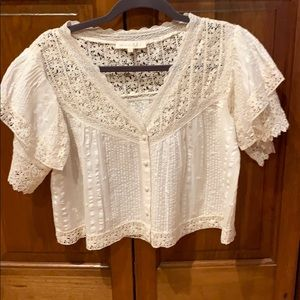 Loveshackfancy lace top S